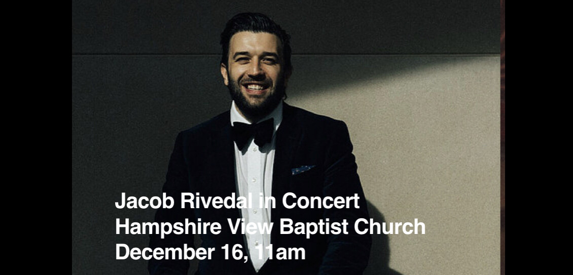 Christmas Concert Featuring Jacob Rivedal