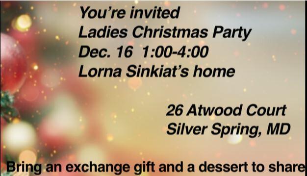Ladies Christmas Party