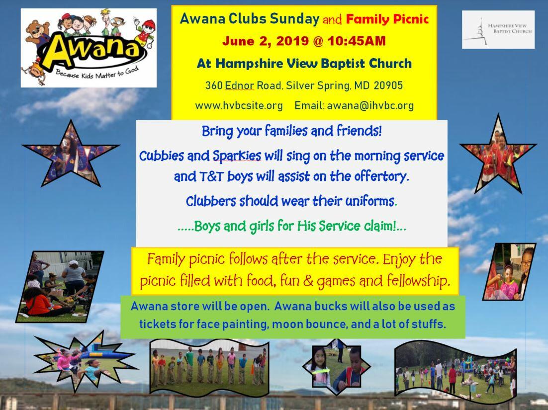 Awana Clubs Sunday and Family Picnic