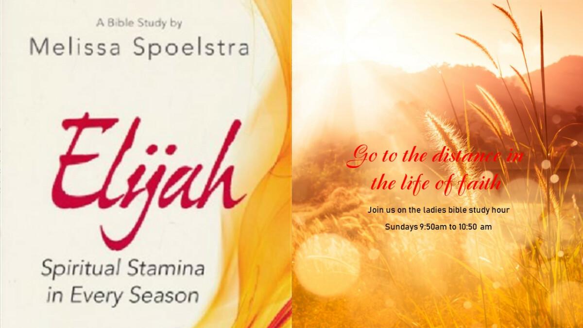 Ladies Bible Study - Elijah: Spiritual Stamina in Every Season