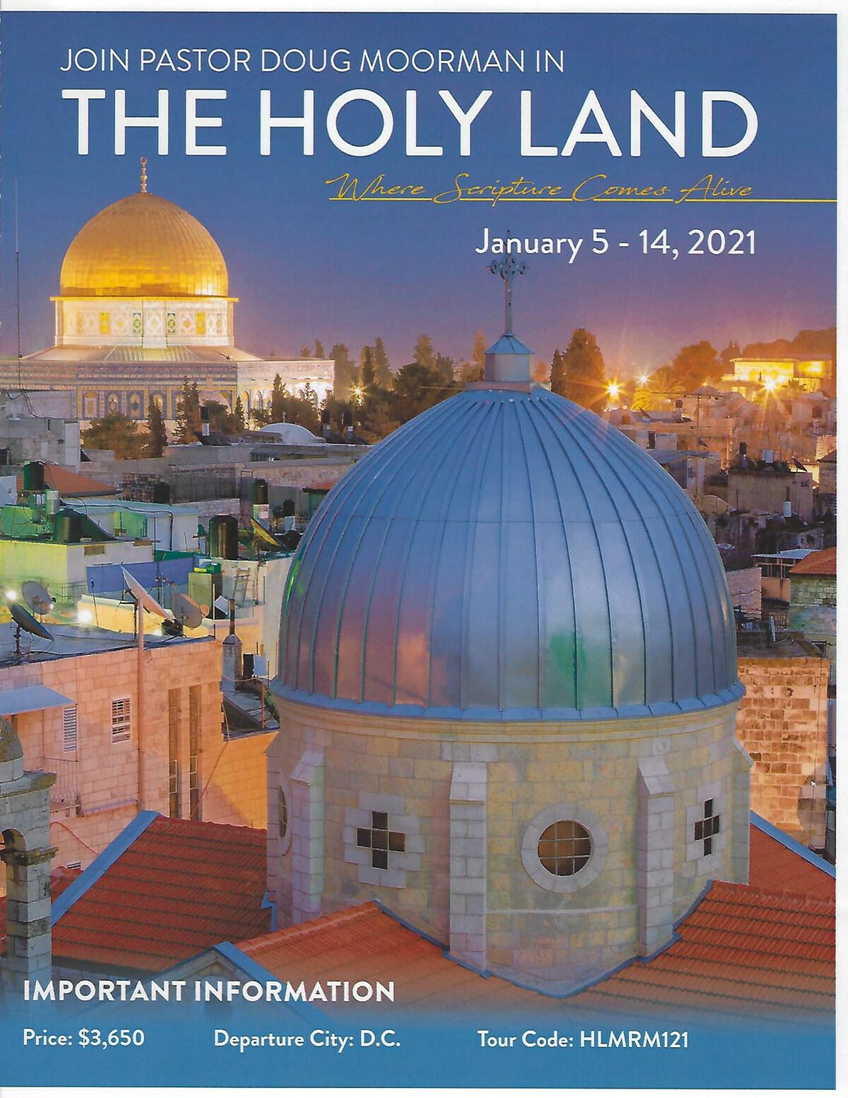 Israel Tour Jan 5-14, 2021